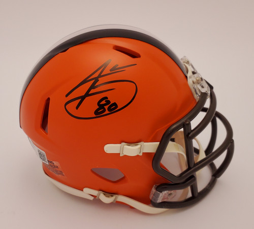 Jarvis Landry Cleveland Browns Autographed Mini Helmet - Beckett Authentic