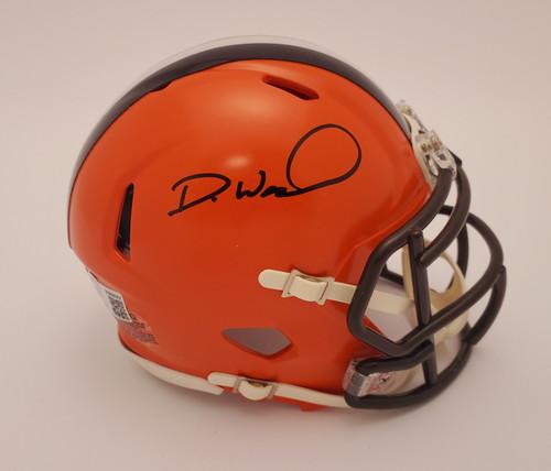 Denzel Ward Cleveland Browns Autographed Speed Mini Helmet - Beckett Authentic