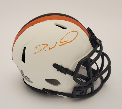 Denzel Ward Cleveland Browns Autographed Lunar Mini Helmet - Beckett Authentic