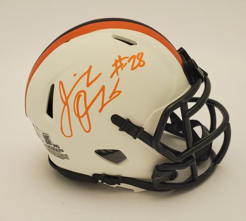 Jeremiah Owusu-Koramoah Cleveland Browns Autographed Lunar Mini Helmet - Beckett Authentic