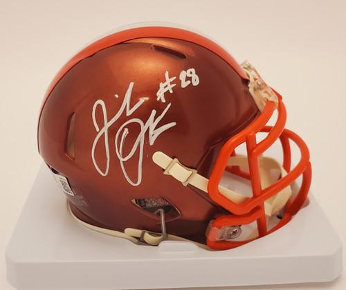 Jeremiah Owusu-Koramoah Cleveland Browns Autographed Flash Mini Helmet - Beckett Authentic