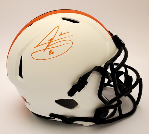 Jarvis Landry Cleveland Browns Autographed Lunar Replica Helmet - Beckett Authentic