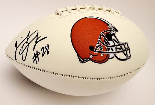 Jeremiah Owusu-Koramoah Cleveland Browns Autographed White Panel Football - Beckett Authentic