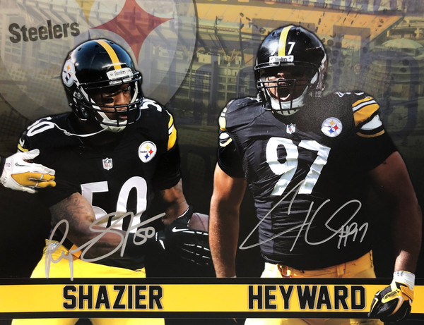 Ryan Shazier & Cameron Heyward Pittsburgh Steelers 11-1 11x14 Autographed Photo - Certified Authentic