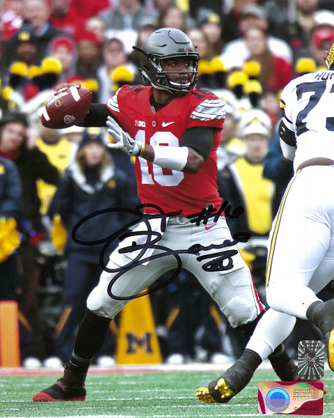 JT Barrett OSU 8-3 8x10 Autographed Photo - Barrett COA