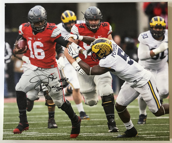 JT Barrett Ohio State Buckeyes 20x24 Autographed Canvas - Certified Authentic