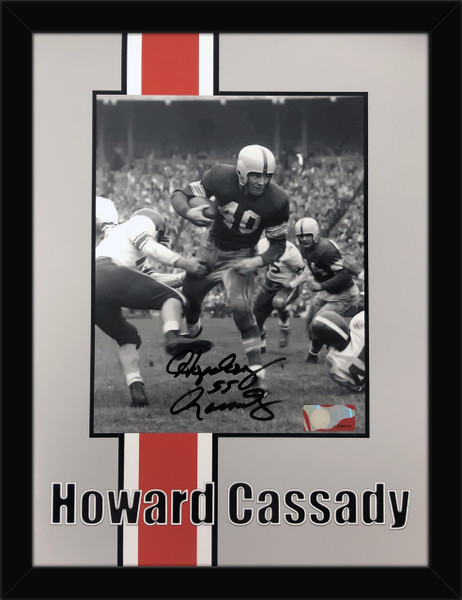 Hopalong Cassady Ohio State Buckeyes Autographed 12x18 Framed - Certified Authentic