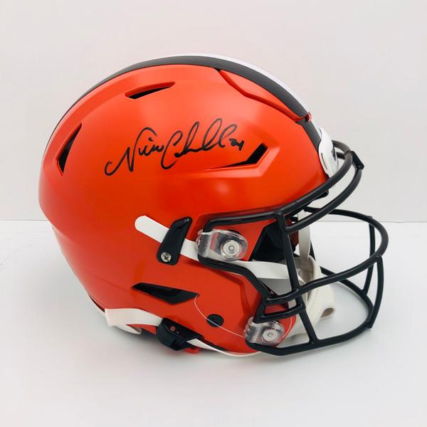 Nick Chubb Cleveland Browns Autographed Superflex Authentic Helmet - Certified Authentic
