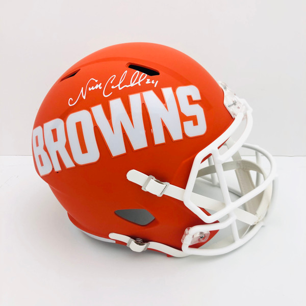 Nick Chubb Cleveland Browns Autographed AMP Replica Helmet - Certified Authentic
