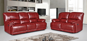Chester Red 3 and 2 Seater Fabric Sofas