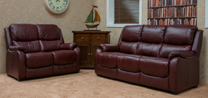 Florence 3 and 2 Seater Leather Sofas