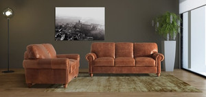 Amalfi 3 and 2 Seater Leather Sofas