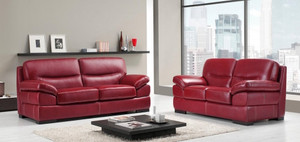 Naples 3 and 2 Seater Leather Sofas