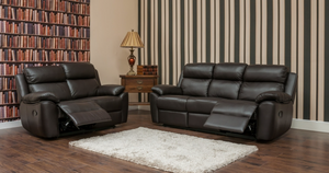 Dallas 3 and 2 Seater Leather Sofas