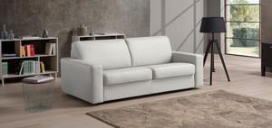 Pisa Italian Leather Sofa Bed