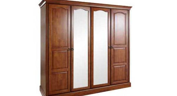 Sherwood 4 Door Wooden Wardrobe