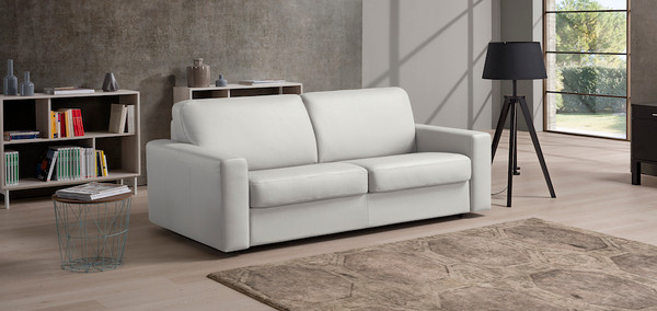 Pisa Italian Leather Sofa Bed