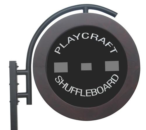 Playcraft Telluride Espresso Shuffleboard Table With