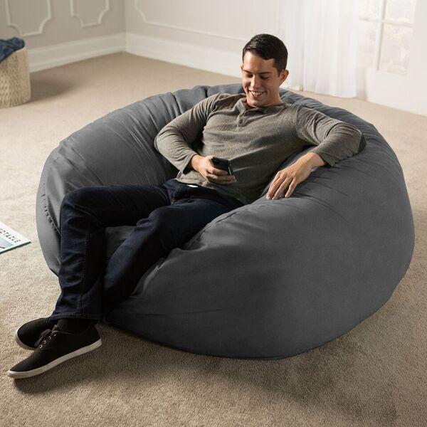 Marvelous Jaxx 5 Giant Bean Bag Chair Machost Co Dining Chair Design Ideas Machostcouk