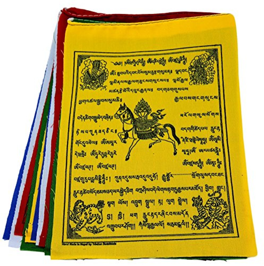 Wind Horse Tibetan Prayer Flags From Nepal Set of 10 Flags