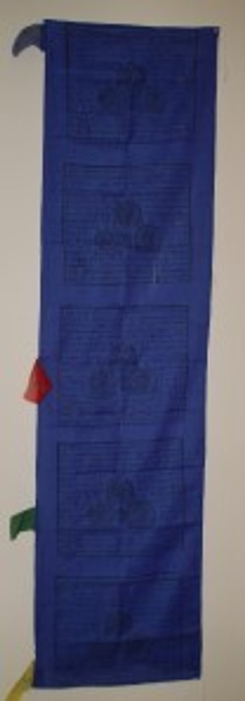 Vertical Prayer Flags Solid Blue Color