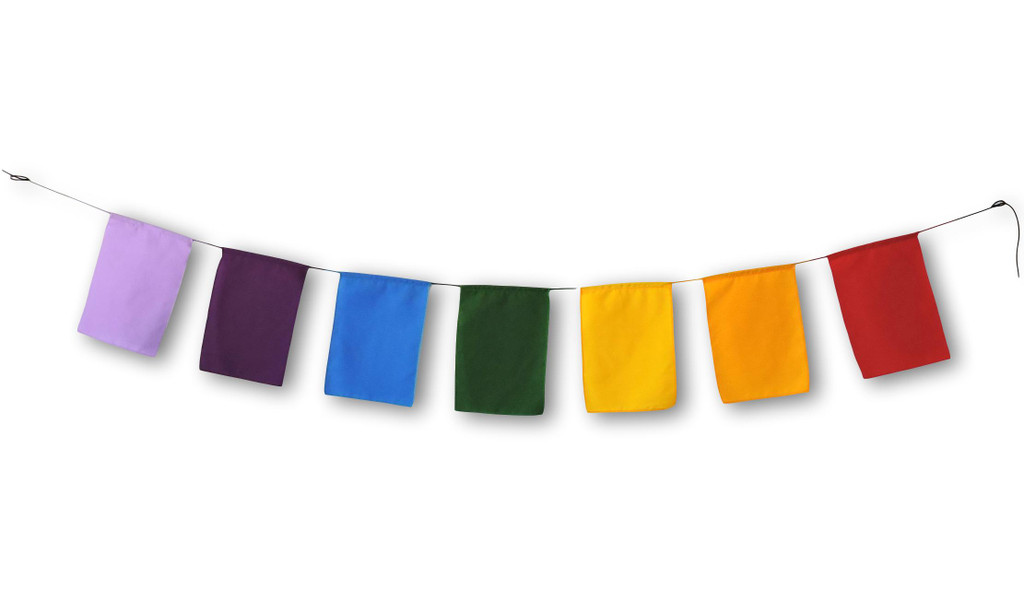 Blank prayer flags high quality surged Edge Put Your own Prayers 6X8""