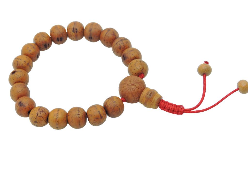 Enlighten Your Mind Bodhi Seed Wrist mala with Guru Bead