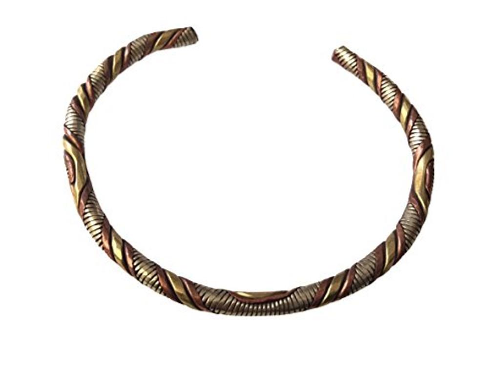 Handmade Tibetan Three Metal Medicine Bracelet From Nepal
