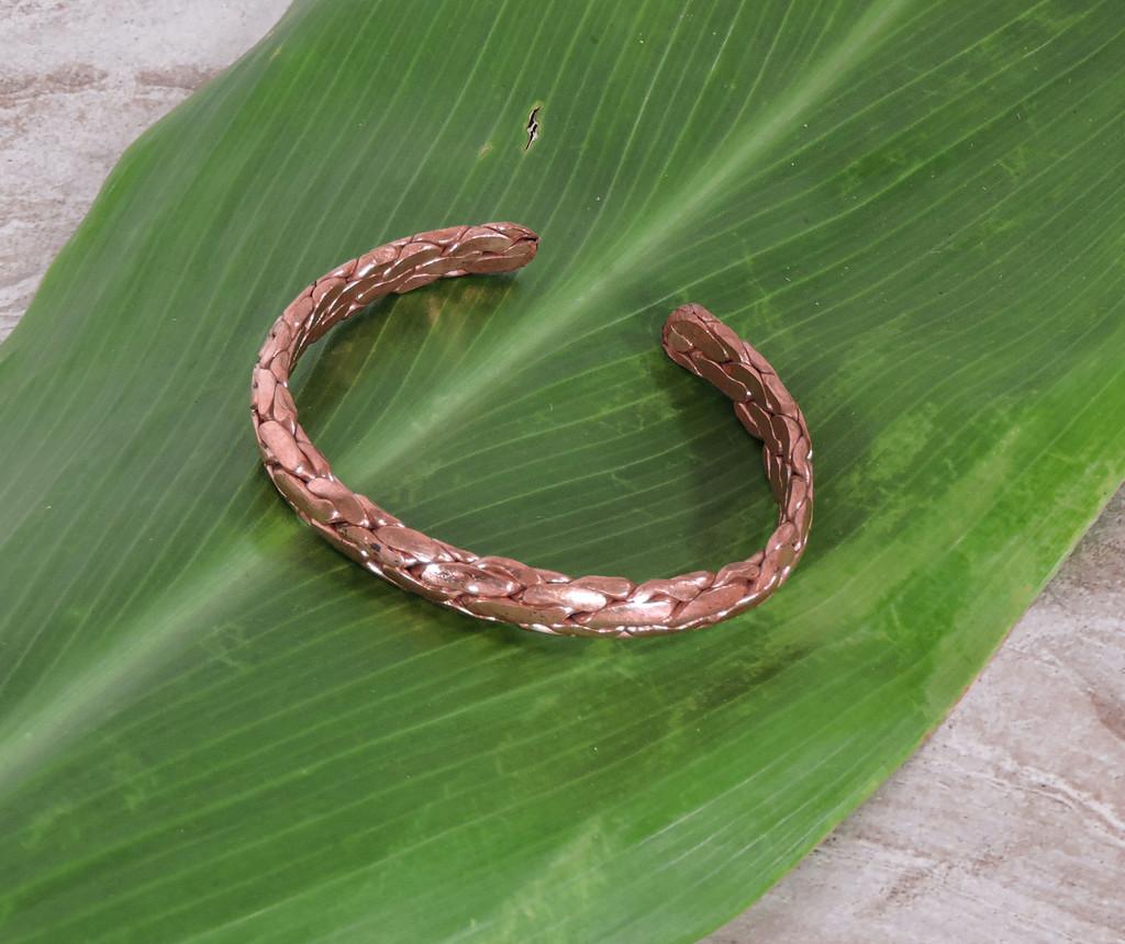 Braided Solid Copper Bracelet adjustable