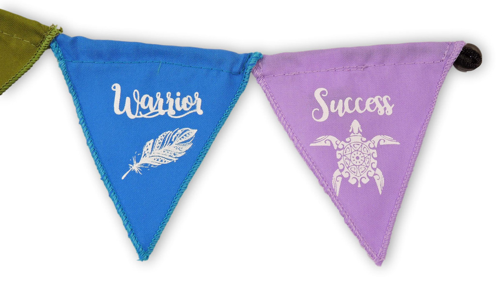 Small Handmade Triangle Trust Integrity Brave Warrior Success Magnet Prayer Flag