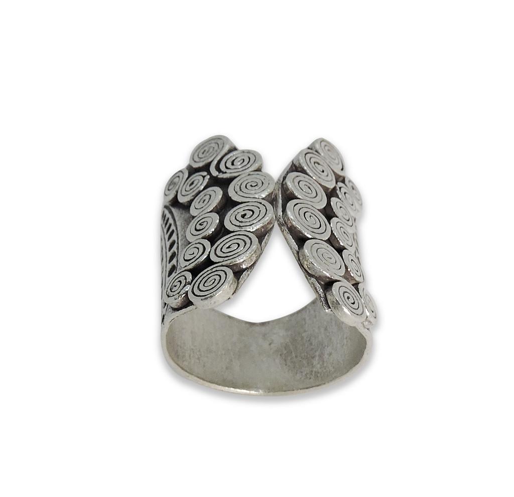 Handmade Thai Karen Hill Tribe Spiral Adjustable Ring