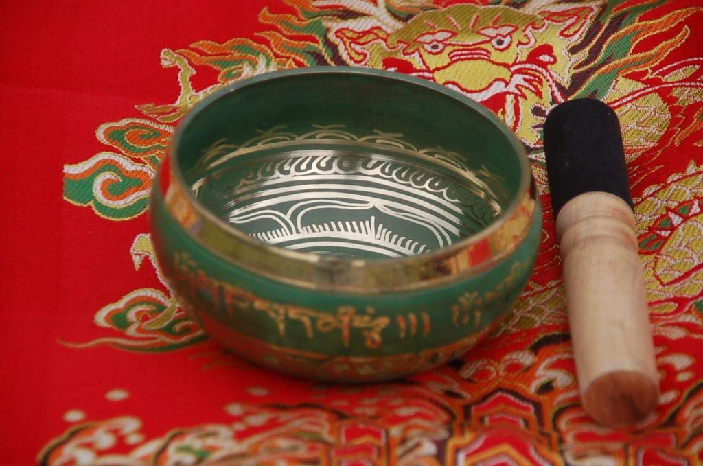 Green Tara Singing Bowl from Nepal