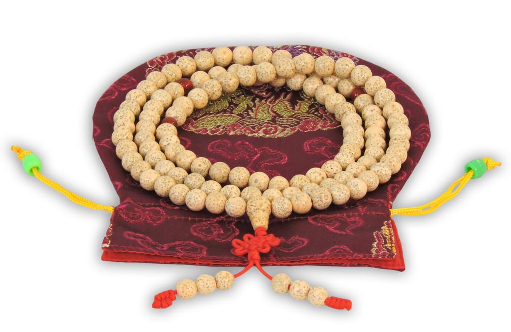 Lotus Seed 108 Beads Mala White