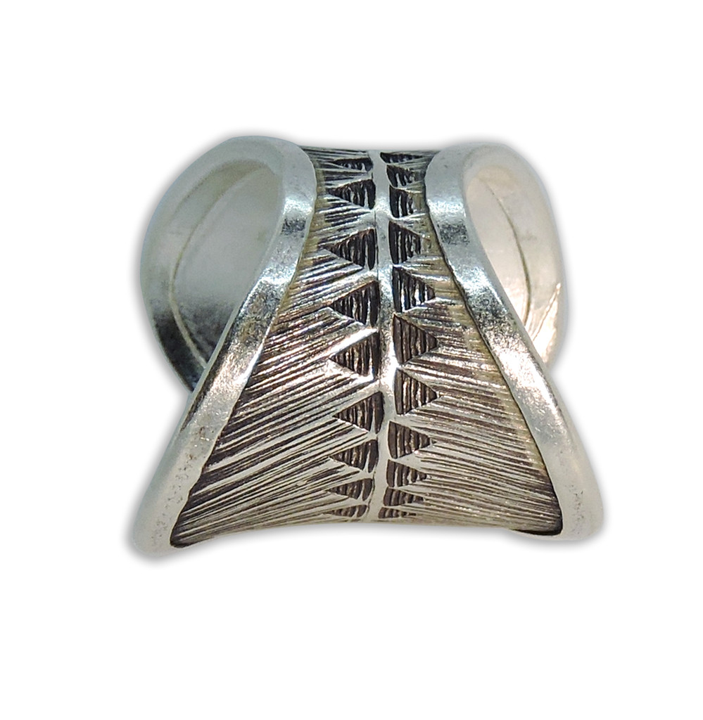 Handmade Thai Karen Hill Tribe Silver Ring (featherTouchRing, Adjustable)
