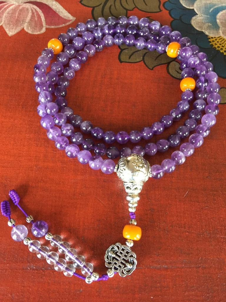 Amethyst Healing Mala Necklace