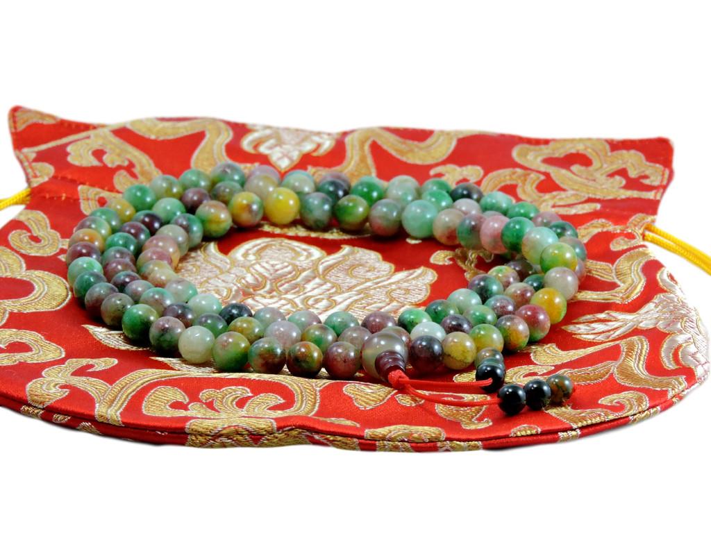 Tibetan Mala Bloodstone Mala 108 Beads for Meditation