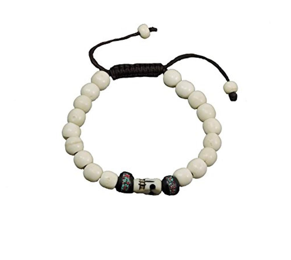 Tibetan Mala Yak Bone Wrist Mala Bracelet for Meditation (Medicine bead)