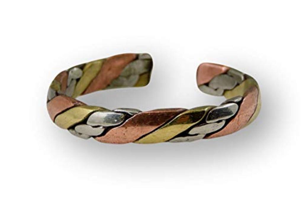 Handmade Twisted Three Metal Medicine/ Healing Ring From Kathmandu Nepal