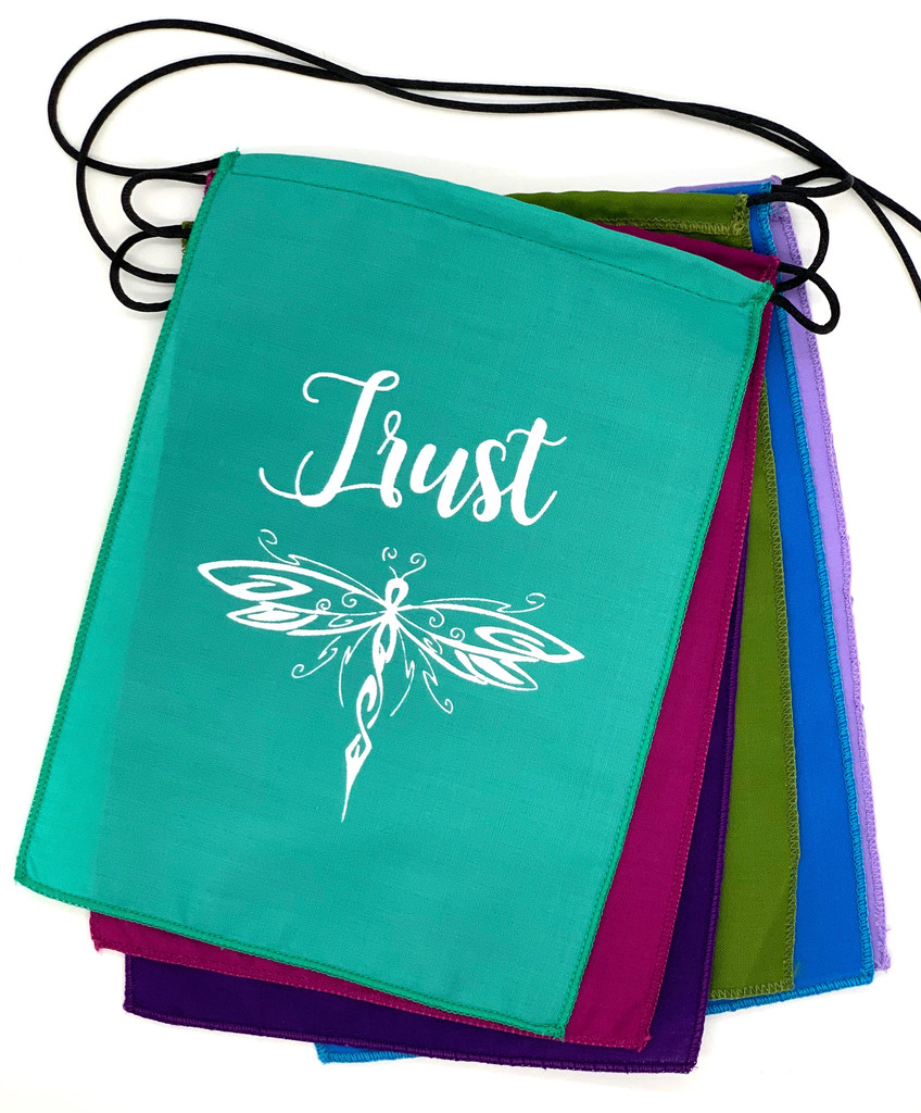 Handmade Affirmation Trust Integrity Brave Warrior Success Prayer Flag 6x8