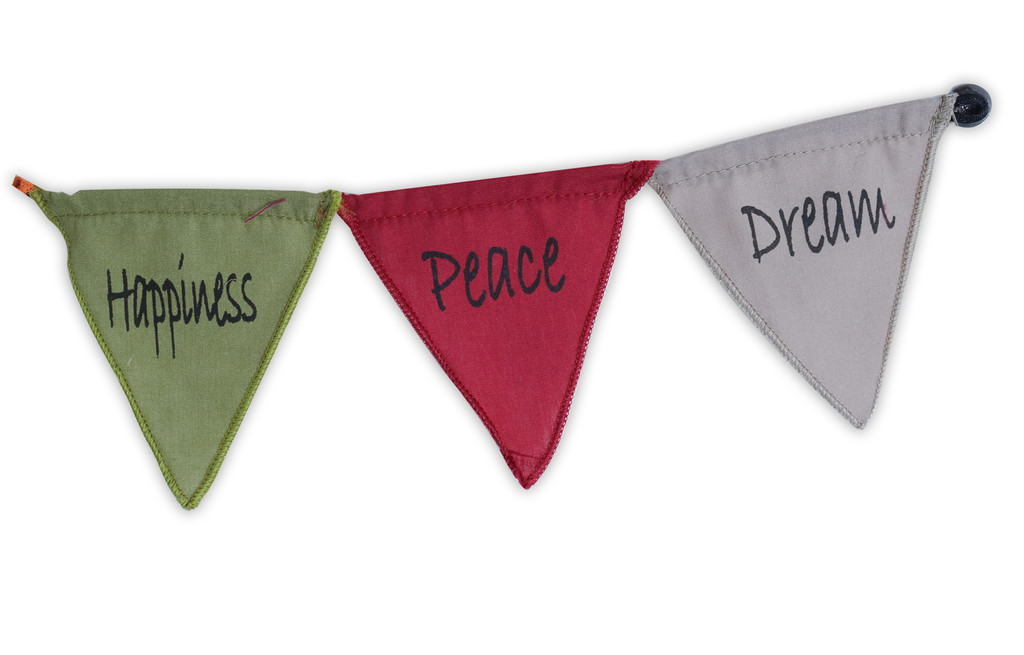Handmade Affirmation Magnet Prayer Flags Dream Believe Hope Happiness Peace