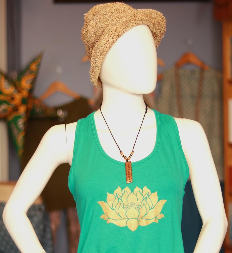 Handmade Courage Message Bone Pendant For Men Or Women Boho Necklace