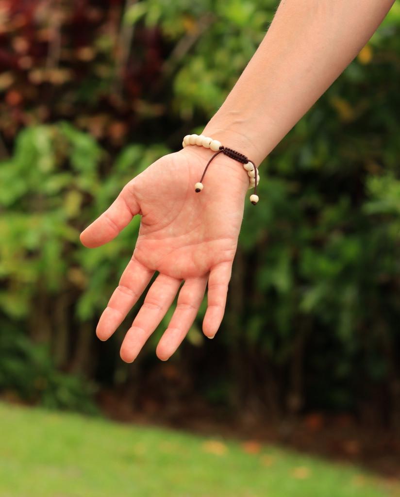 Tibetan Mala Yak Bone Wrist Mala Bracelet for Meditation (Turquoise)