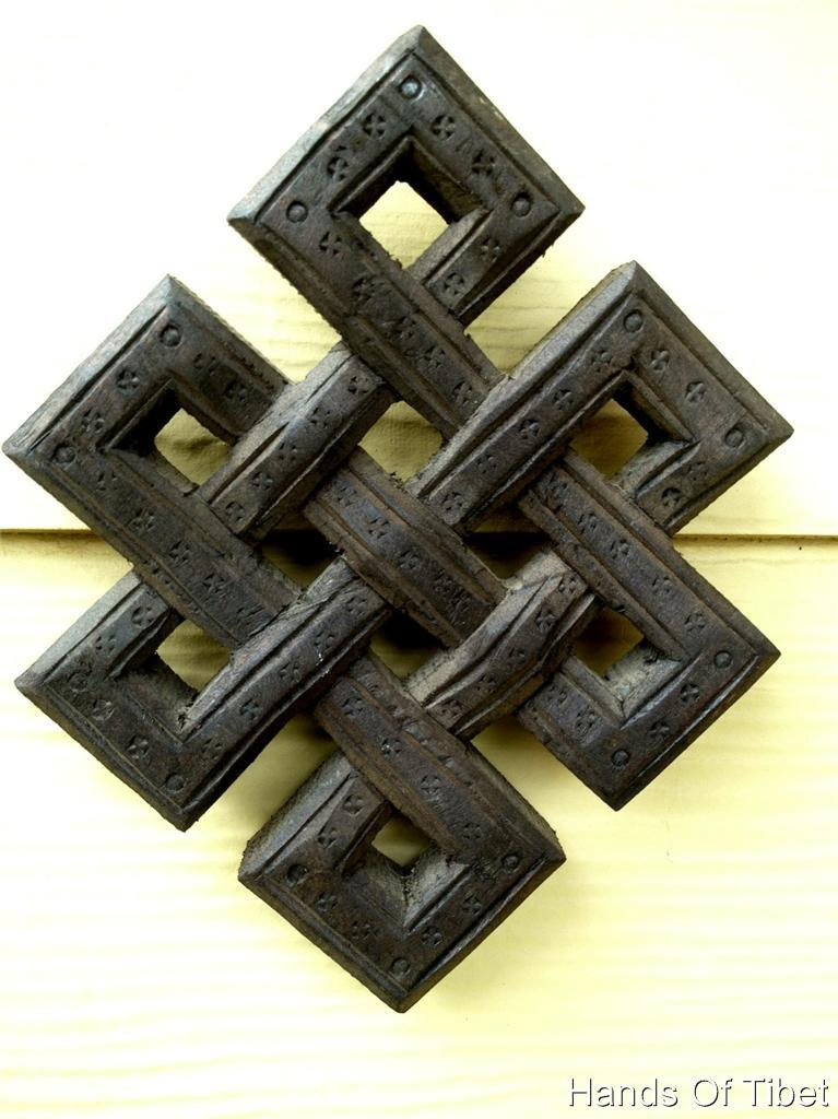 Hand Crafted Wooden Eternal Knot Wall Hanging From Nepal (WH-05) (view)