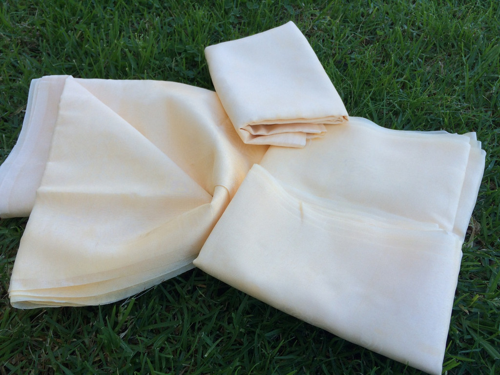 Traditional Tibetan Prayer Scarves off white Lot of four set