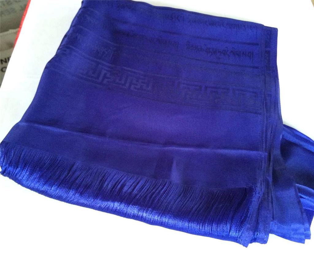 High Quality Tibetan Prayer scarf Kata Blue