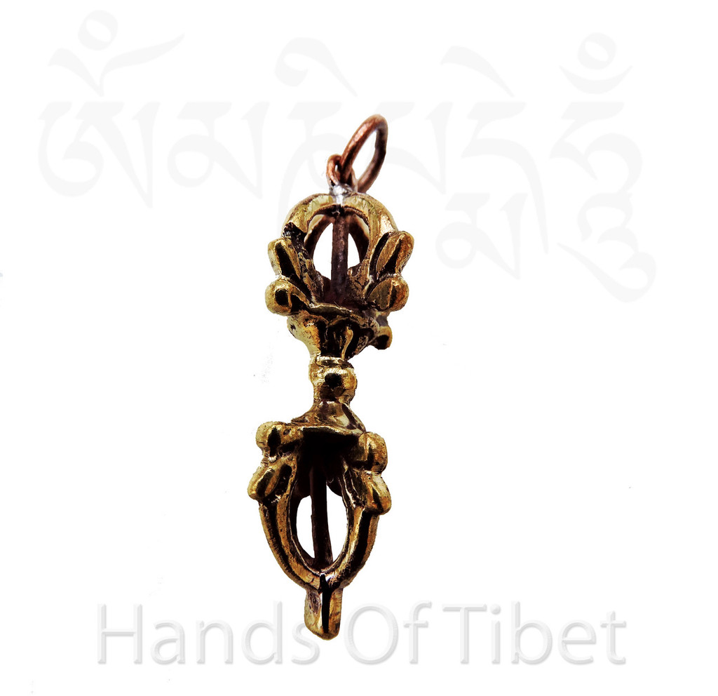 Brass Dorje Vajra pendant