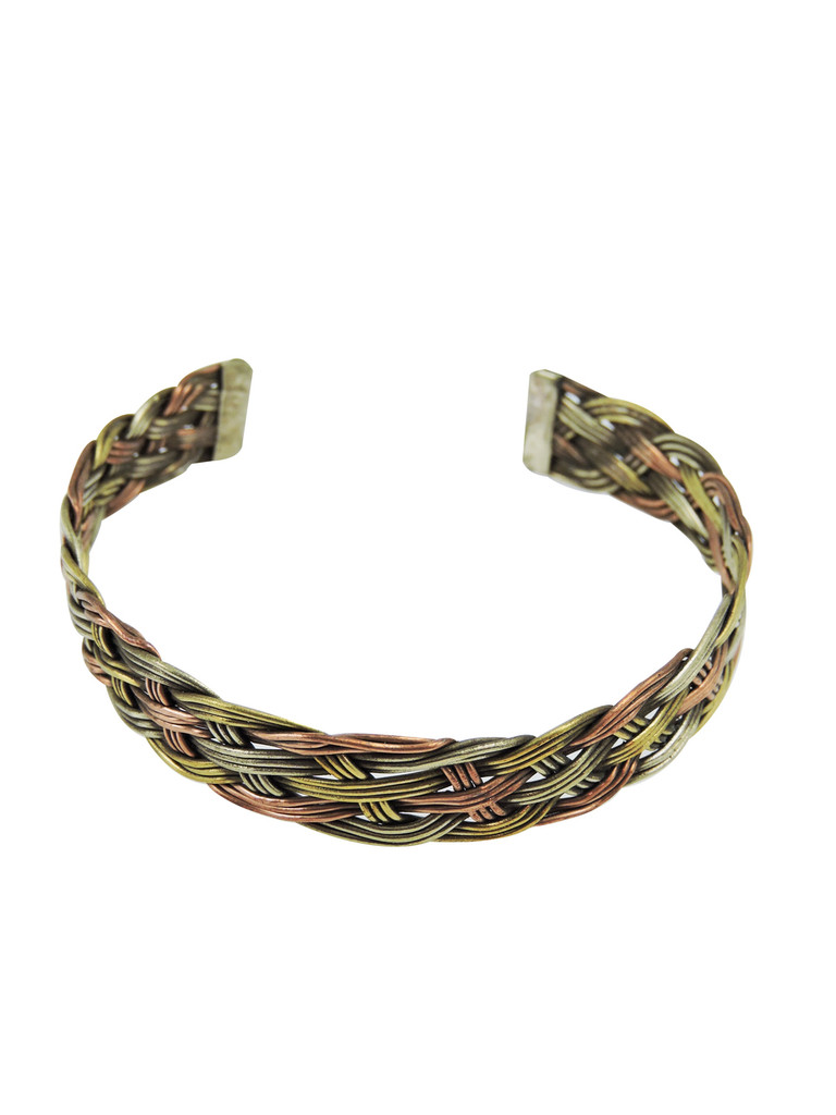 Twisted Three Metal Medicine Healing Bangle