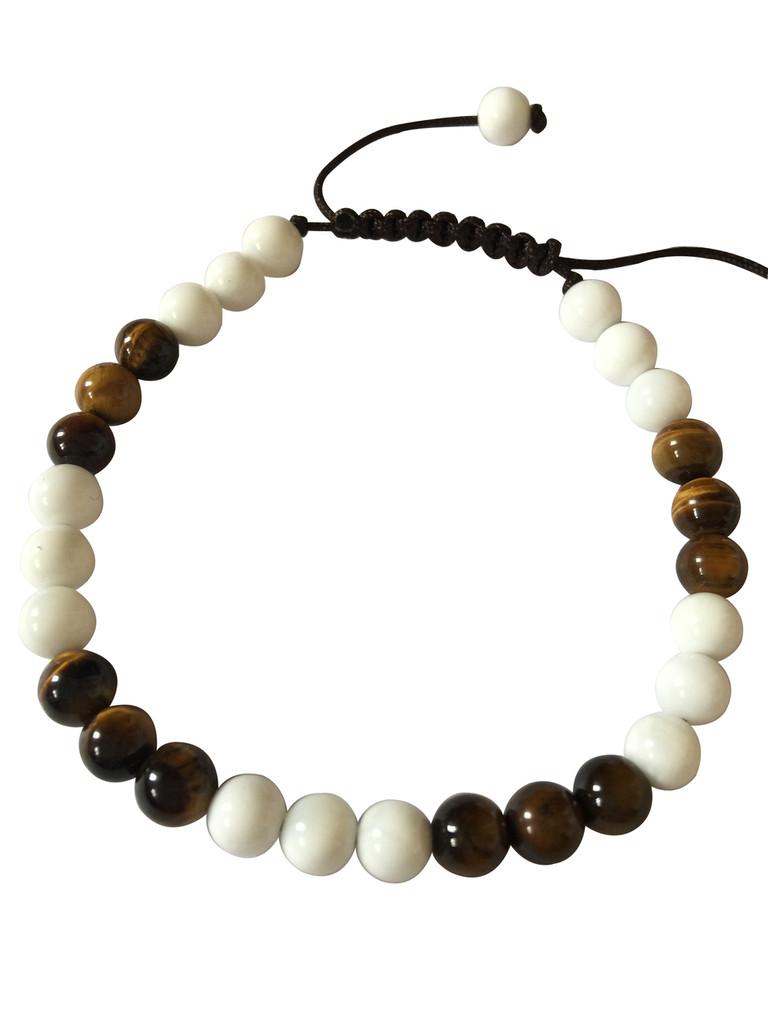 Tiger Eye Conch Shell Wrist Mala Yoga Bracelet