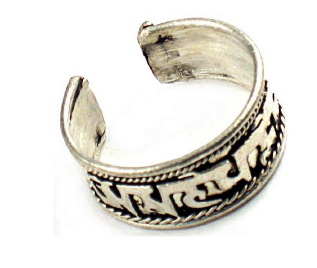 Buddha of compassion Tibetan Silver Ring