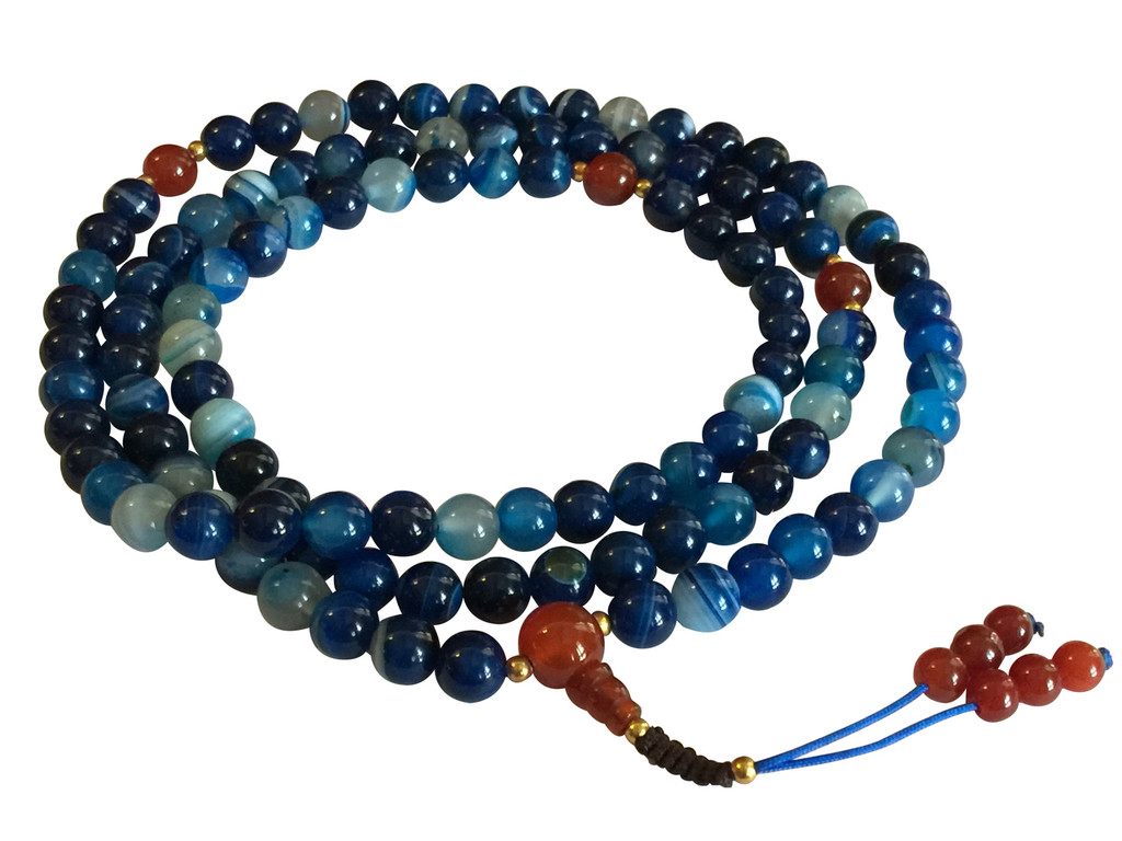 Wisdom of the Ocean Blue Agate 108 mala